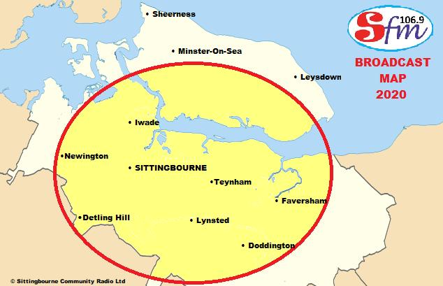 106.9 SFM Broadcast Map
