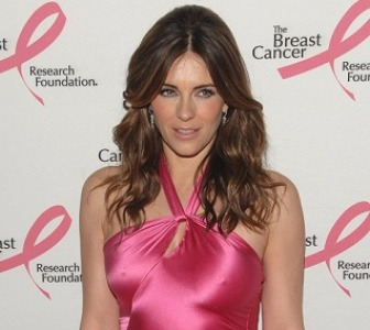 08/10/13 - Elizabeth Hurley, talking about Breast Cancer Awareness.