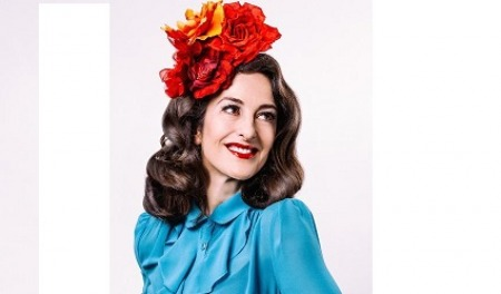 25.02.16 Marcella Puppini - singer-songwriter and founder of The Puppini Sisters.