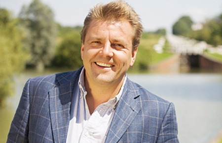 "04.07.14 - Martin Roberts, TV presenter, property expert, investor, entrepreneur and author currently presenting BBC's ""Homes Under the Hammer"" with co-presenter Lucy Alexander."