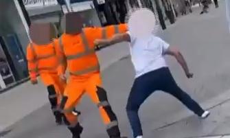 Two Arrests After 'Bin Men' High Street Brawl