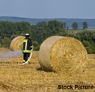 Baled Hay Fire In Tonge