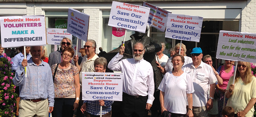 Users March To Save Phoenix House