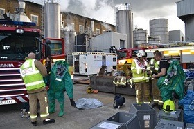 """Paper Mill Hosts Fire Crew """"Training Exercise"""""""