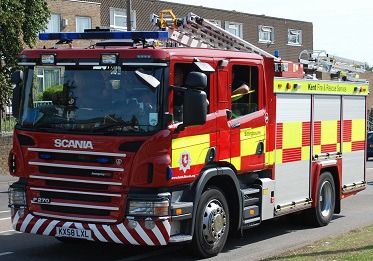 Firefighters Tackle Bredgar Barn Fire