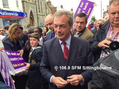 Nigel Farage Descends On Sittingbourne
