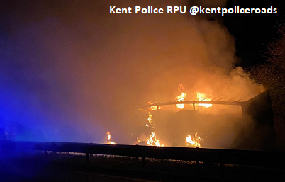 M2 Closed In Both Directions Due To Lorry Fire