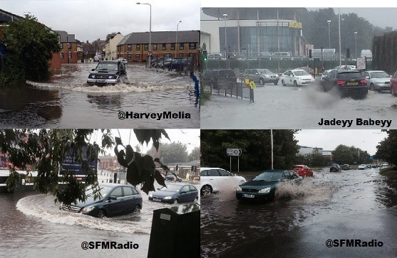 Town Centre Affected By Storm Flooding Again
