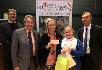 MP Presents Prizes To Anti-Litter Poster Winners