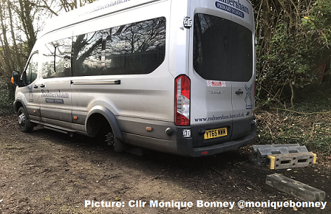 Heartless Thieves Steal School Minibus' Wheels