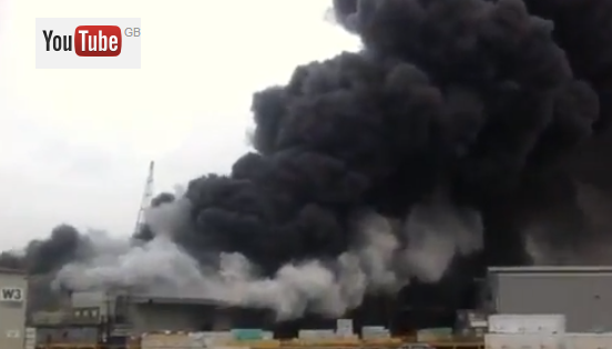 Major Fire At Sheerness Docks