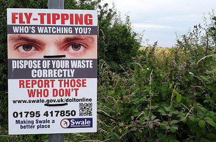 More Action Taken Against Fly-Tippers In Swale