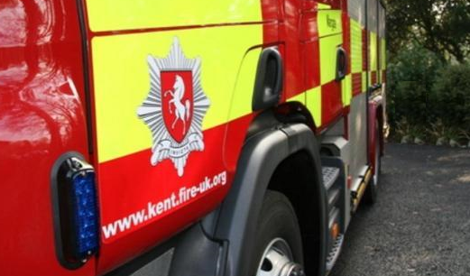 Firefighters Tackle A Large Haystack Blaze