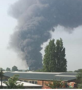 Major Fire At Recycling Plant