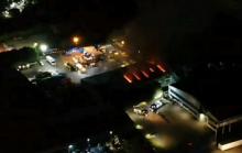 Fire Crews Remain At Major Eurolink Blaze