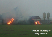 Crews Tackle Dutch Barn Fire In Tonge
