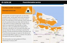 Local Flood Alert Issued