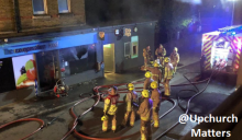 Fire Crews Tackle Upchurch Co-op Blaze