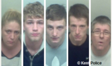 Five Jailed For Drug Offences In Sittingbourne