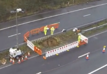 "M2 Still Remains Closed Due To ""Sink Hole"""