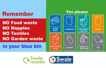 Council Stickers On Bins To Reduce Contamination