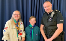 Scouts Receive A Donation From Kent Police Fund