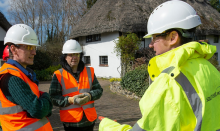 Councillors Tour Water Main Replacement Site
